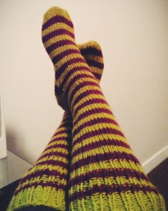 Witchy socks knit a few Halloweens ago. 1st & only hand made knit that I kept for myself